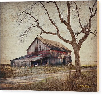 Beautiful Red Barn-near Ogden Wood Print by Kathy M Krause