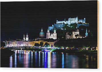 Wood Print featuring the photograph Beautiful Salzburg by David Morefield