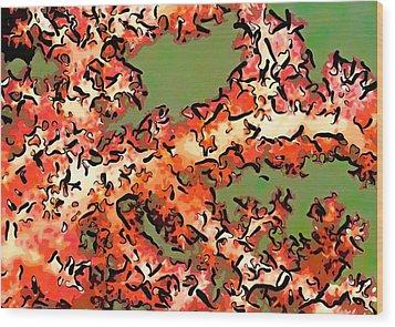 Beautiful Soft Cora 1 Wood Print by Lanjee Chee