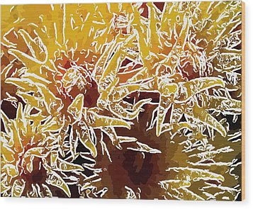 Beautiful Soft Coral Flowers Underwater 1 Wood Print by Lanjee Chee