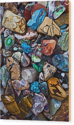 Beautiful Stones Wood Print by Garry Gay