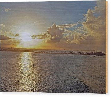 Wood Print featuring the photograph Beautiful Sunset by Gary Wonning