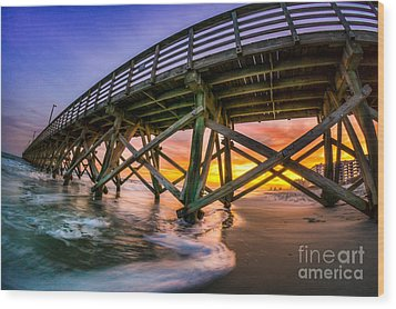 Beautiful Sunset In Myrtle Beach Wood Print