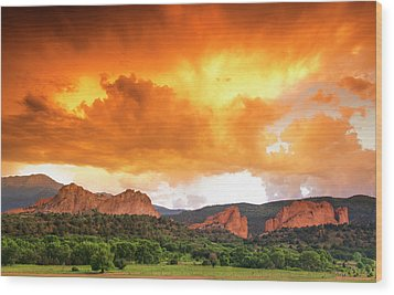 Wood Print featuring the photograph Beautiful Sunset by Tim Reaves