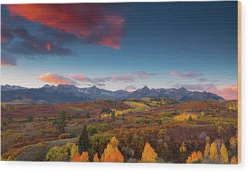 Wood Print featuring the photograph Beautiful Tints Of Autumn by Tim Reaves