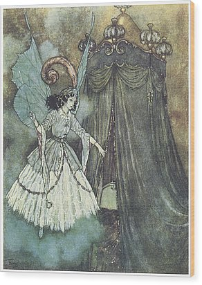 Beauty And The Beast Wood Print by Edmund Dulac