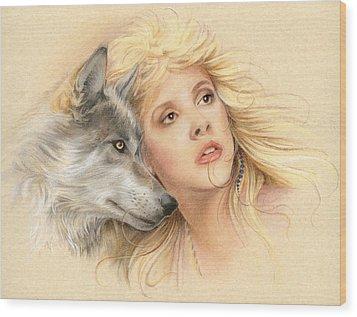 Beauty And The Beast Wood Print by Johanna Pieterman