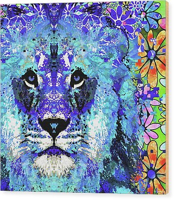 Beauty And The Beast - Lion Art - Sharon Cummings Wood Print by Sharon Cummings