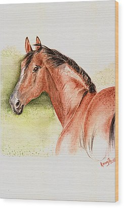Brown Horse From The Wild Wood Print by Remy Francis