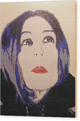 Beauty Beyond The Blue Wood Print by Ricklene Wren