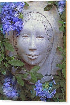 Beauty Blue Wood Print by Debbie Chamberlin