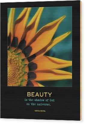 Beauty Wood Print by Bonnie Bruno