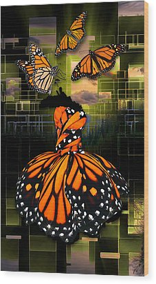 Wood Print featuring the mixed media Beauty In All Things by Marvin Blaine