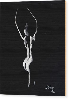Beauty In The Shadows 9 Wood Print by Don MacCarthy