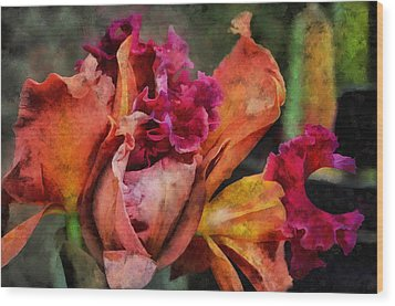 Wood Print featuring the mixed media Beauty Of An Orchid by Trish Tritz