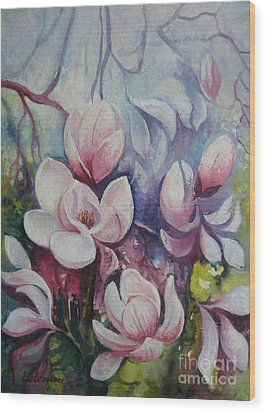 Wood Print featuring the painting Beauty Of Spring by Elena Oleniuc