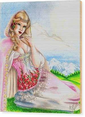 Beauty Of The View Wood Print by Scarlett Royal