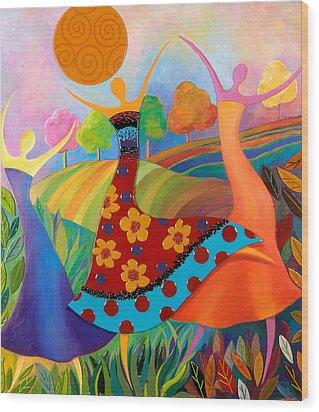 Beauty Through Her Seasons Wood Print by Anne Nye