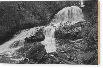 Beaver Brook Falls Wood Print