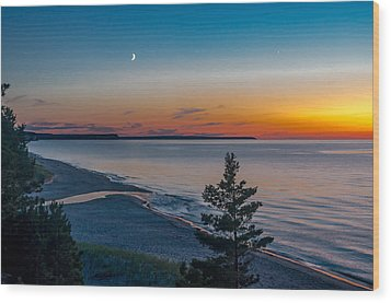 Beaver Creek Sunset Wood Print