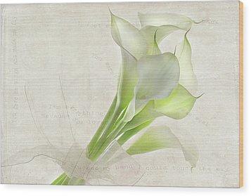 Because You Love Me Wood Print by Rebecca Cozart