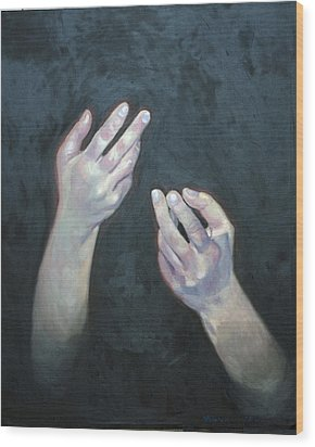 Beckoning Hands Wood Print by Douglas Manry