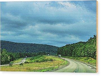 Beckoning Road Wood Print