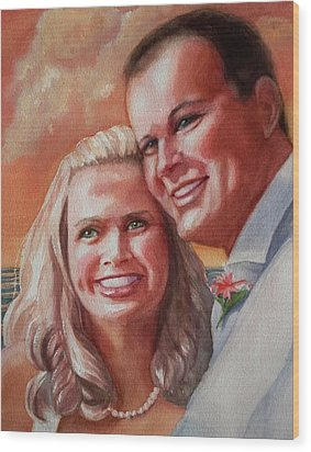 Becky And Chris Wood Print by Marilyn Jacobson