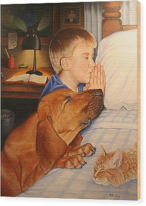 Bed Time Prayers Wood Print by Mike Ivey