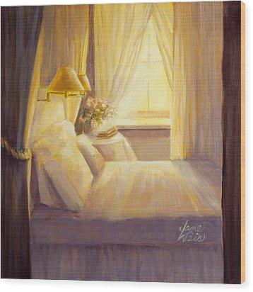 Bedroom Light Wood Print by Jane Weis