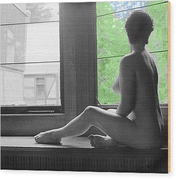 Bedroom Window Wood Print