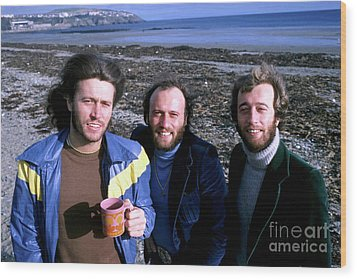 Wood Print featuring the photograph Bee Gees 1976 by Chris Walter