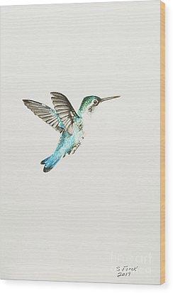 Bee Hummingbird Wood Print