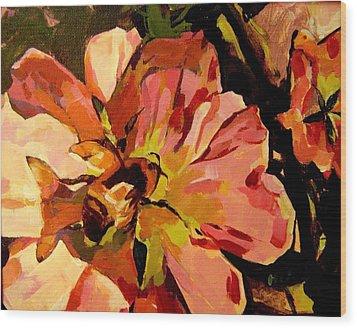 Bee Shadow Wood Print