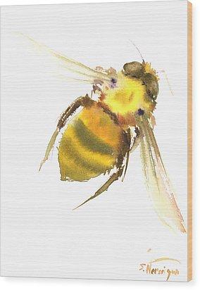 Bee Wood Print by Suren Nersisyan