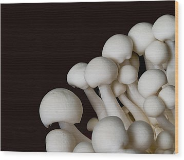 Beech Mushrooms Wood Print