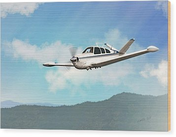 Beechcraft Bonanza V Tail Wood Print