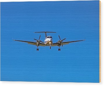 Beechcraft Super King Air 350 Wood Print by Mark Lucey