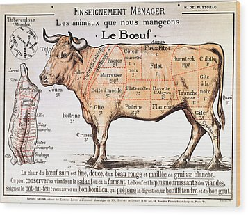 Beef Wood Print by French School