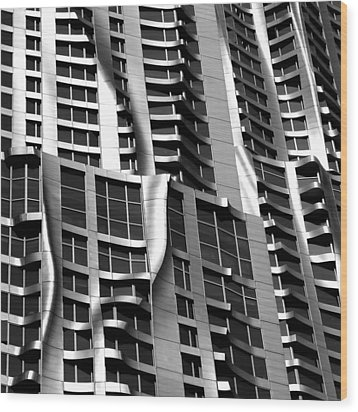 Beekman Tower Detail Wood Print by Andrew Fare