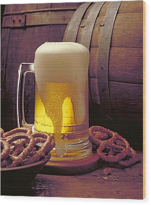 Beer And Pretzels Wood Print by Thomas Firak