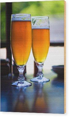 Beer Glass Wood Print by Sakura_chihaya+