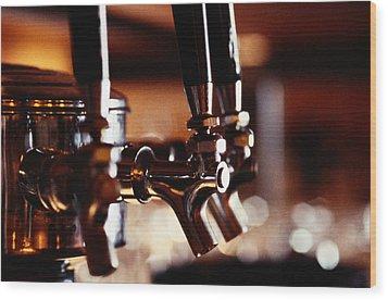 Beer Taps Wood Print by Ryan McVay