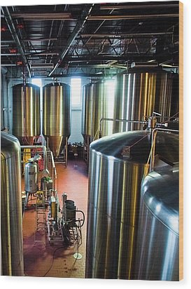 Wood Print featuring the photograph Beer Vats by Linda Unger