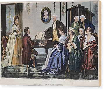 Beethoven & Mozart, 1787 Wood Print by Granger