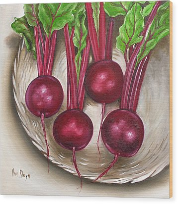 Beetroot Wood Print by Ilse Kleyn