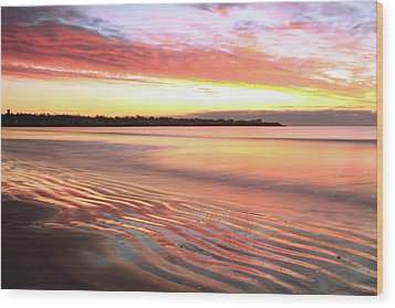 Before Sunrise At First Beach Wood Print by Roupen  Baker