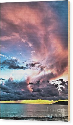 Wood Print featuring the photograph Before The Storm Avila Bay by Vivian Krug Cotton
