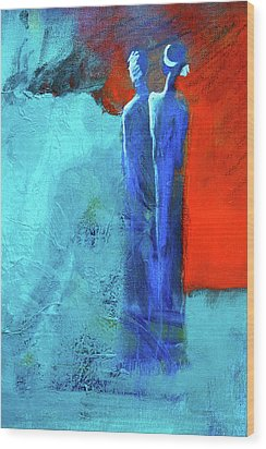 Wood Print featuring the painting Before The Wedding by Nancy Merkle