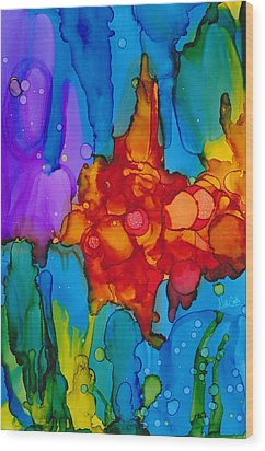 Wood Print featuring the painting Beginnings Abstract by Nikki Marie Smith